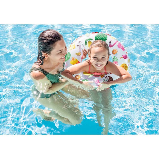 Intex Lively Printed Inflatable Swim Ring, , bcf_hi-res