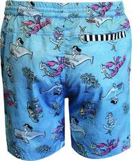 Tradie Men's Hawaiian Holiday Walk Shorts Blue S, Blue, bcf_hi-res