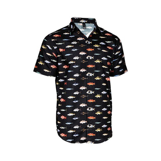 Tide Apparel Men's Holiday Shirt, Black, bcf_hi-res