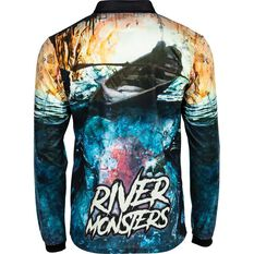 Tide Apparel Men's River Monster 2 Fishing Jersey Multi S, Multi, bcf_hi-res
