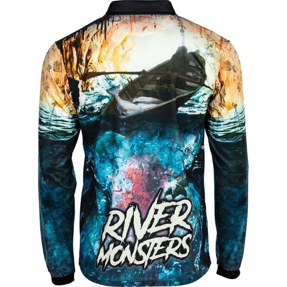Tide Apparel Men's River Monster 2 Fishing Jersey, Multi, bcf_hi-res