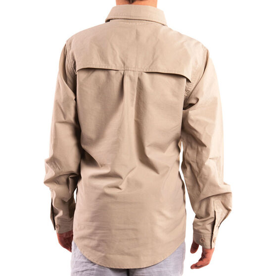 Explore 360 Kids' Vented Long Sleeve Fishing Shirt Taupe 10, Taupe, bcf_hi-res