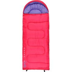Wanderer MiniFlame Single Hooded Sleeping Bag, Pink / Purple, bcf_hi-res