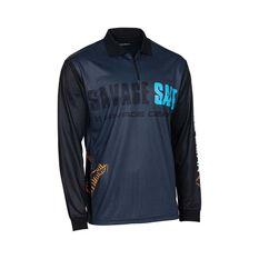 Savage Men's Salt Sublimated Polo, Dark Grey, bcf_hi-res