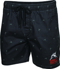 The Great Northern Brewing Co. Men's Printed Volley Shorts Black S, Black, bcf_hi-res