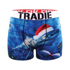 Tradie Men's Christmas at Sea Trunks, , bcf_hi-res