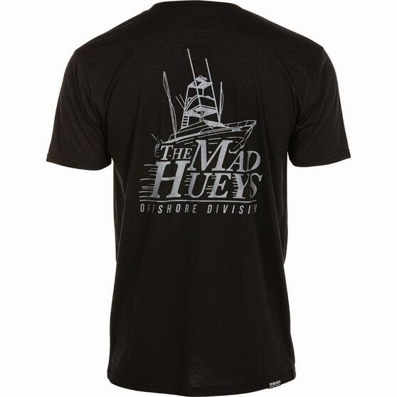 The Mad Hueys Men's Offshore UV Tee Black S, Black, bcf_hi-res