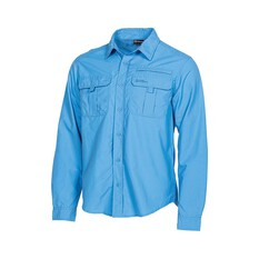 Outdoor Expedition Men's Long Sleeve Fishing Shirt Blue S, Blue, bcf_hi-res