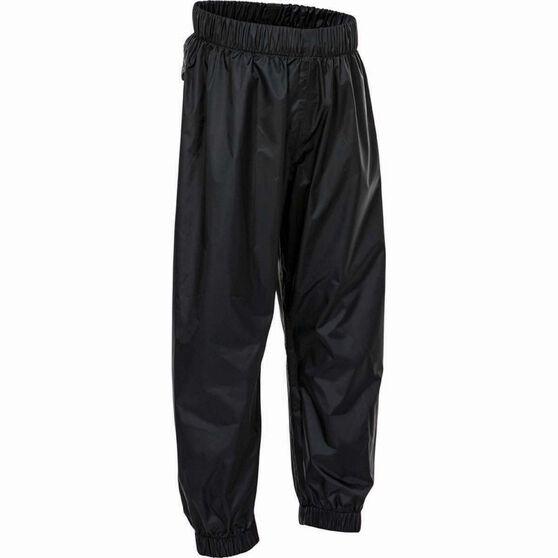 OUTRAK Kids' Packaway Rain Pants, Black, bcf_hi-res