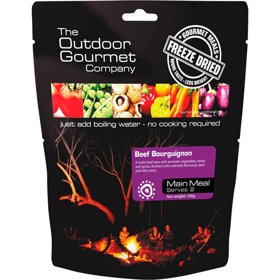 Outdoor Gourmet Company Beef Bourguignon Freeze Dried Food 2 Serves, , bcf_hi-res