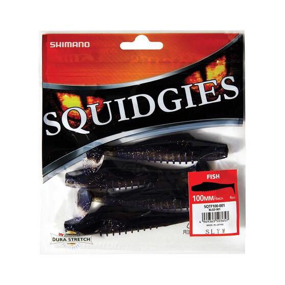 Shimano Squidgies Dura Stretch Fish 100mm Black Gold, Black Gold, bcf_hi-res
