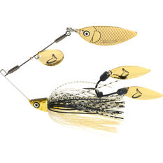 Savage TI Flex Spinner Bait Lure 17.5g Black / Gold, Black / Gold, bcf_hi-res