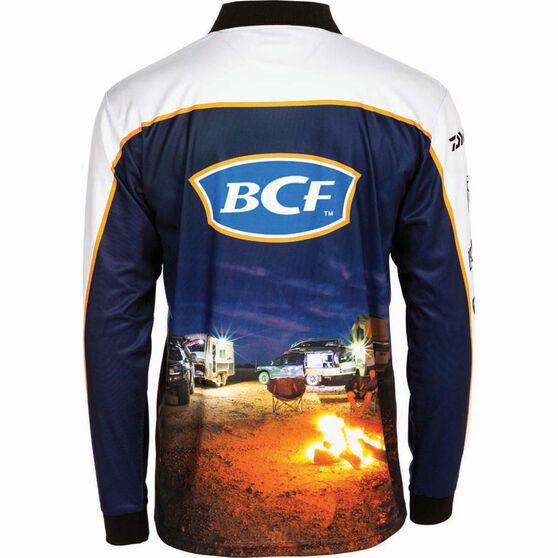 BCF Men's Camp Sublimated Polo Orange S, Orange, bcf_hi-res
