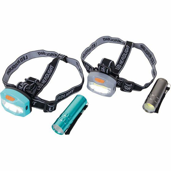 4pc LED Headlamp and Torch Combo, , bcf_hi-res