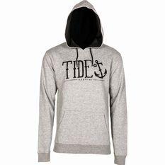 Tide Apparel Men's Logo Hoodie Grey S, Grey, bcf_hi-res