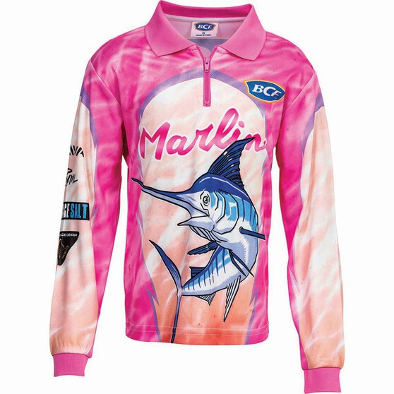 BCF Kids' Marlin Sublimated Polo, Pink, bcf_hi-res