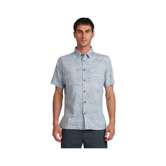 Quiksilver Waterman Men's Les Surge Shirt, Dusty Blue, bcf_hi-res
