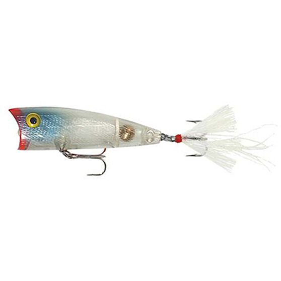 Rebel Teeney Pop-R Surface Lure 2in Clear, Clear, bcf_hi-res
