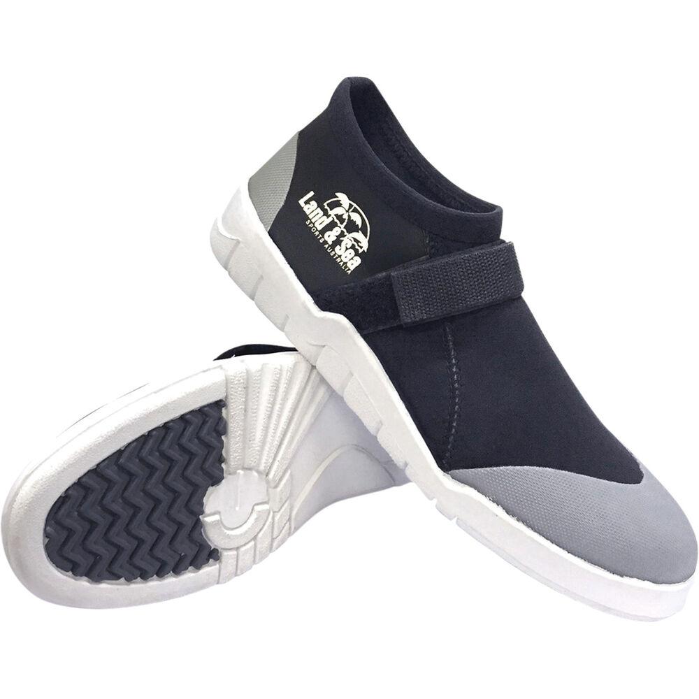 ff14e6885d3d Land   Sea Men s Moulded Sole Aqua Shoes Black 6