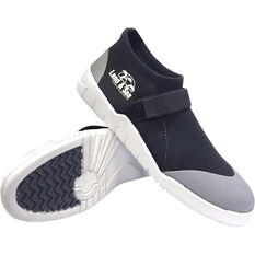 Men's Moulded Sole Aqua Shoes Black 6, Black, bcf_hi-res