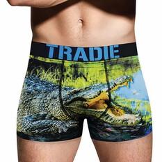 Tradie Men's Croc in a Pond Trunk, Print, bcf_hi-res
