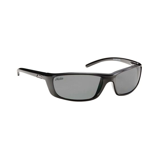 Hobie Cabo Sunglasses - Men's Shiny Black / Grey Lens M/L, , bcf_hi-res