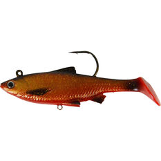 Savage Swim Mullet Soft Plastic Lure 8.5cm Blood Belly 8.5cm, Blood Belly, bcf_hi-res
