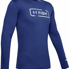 Under Armour Men's Sublimated Isochill Shore Break Long Sleeve T Shirt Blue Ink S, Blue Ink, bcf_hi-res