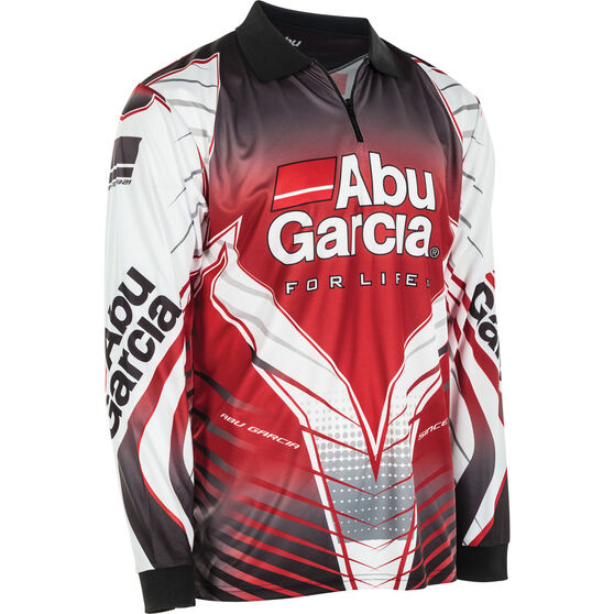 Abu Garcia Men's Sublimated Polo Red M, Red, bcf_hi-res