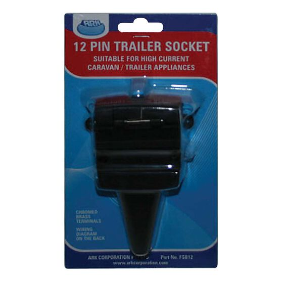ARK 12 Pin Trailer Socket Flat, , bcf_hi-res