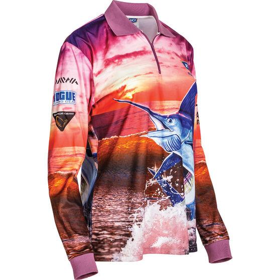BCF Women's Marlin Sublimated Polo, Purple, bcf_hi-res