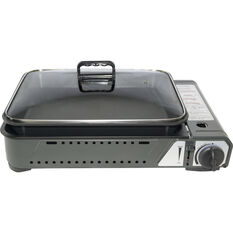 Campmaster Butane Stove with Inset Cooking Pan 1 Burner, , bcf_hi-res