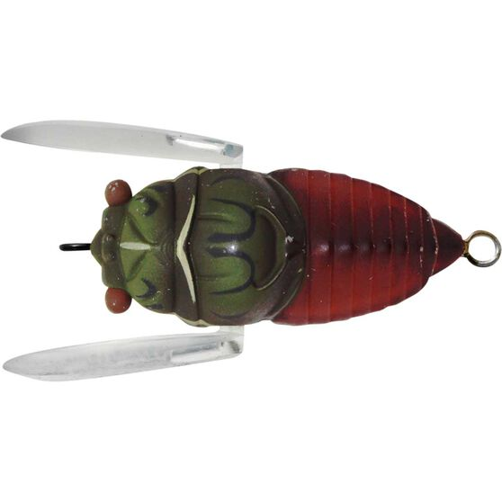 Cicada Magnum Bass Tune Surface Lure 45mm Green Brown, Green Brown, bcf_hi-res