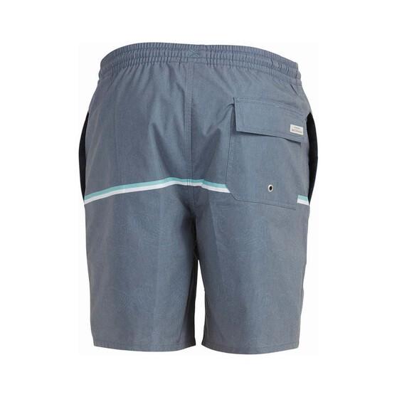 Quiksilver Men's The Deck Stripe Volley Shorts, Blue, bcf_hi-res