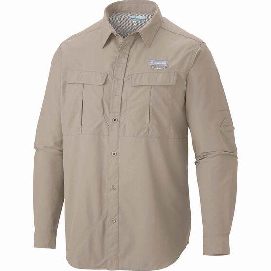 Columbia Men's Cascades Long Sleeve Shirt, Fossil, bcf_hi-res
