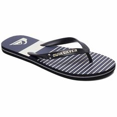 Quiksilver Waterman Molokai Tijuana Thongs Black / Blue / Grey 8, Black / Blue / Grey, bcf_hi-res