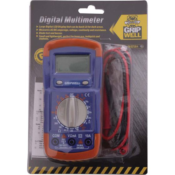 Gripwell Digital Multimeter, , bcf_hi-res