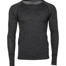 OUTRAK Men's Merino Long Sleeve Top, Charcoal Marle, bcf_hi-res