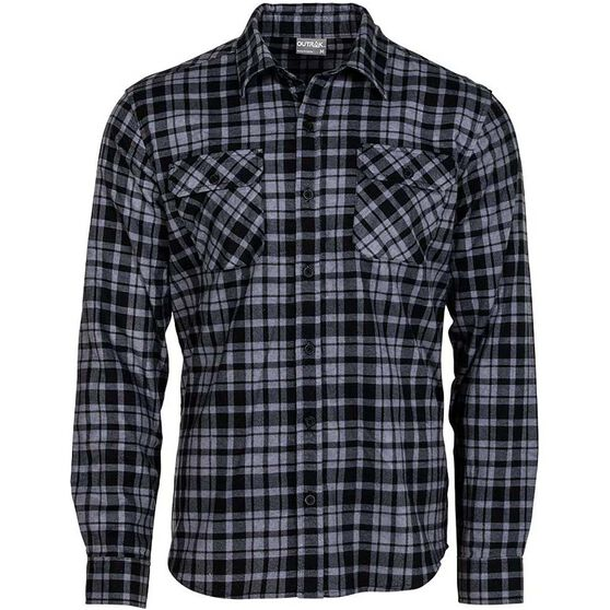 OUTRAK Men's Flannel Shirt, , bcf_hi-res
