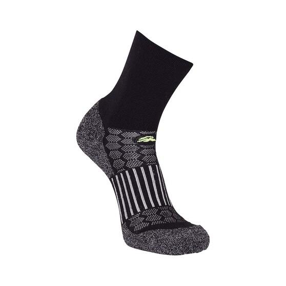 Macpac Unisex Tech Merino Hiker Socks, Black, bcf_hi-res