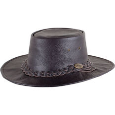 OUTBACK LEATHER Men's Ram Crushable Hat, Brown, bcf_hi-res