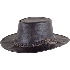 OUTBACK LEATHER Men's Ram Crushable Hat Brown M, Brown, bcf_hi-res