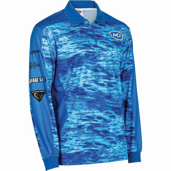 BCF Men's Corporate Sublimated Polo Blue S, Blue, bcf_hi-res
