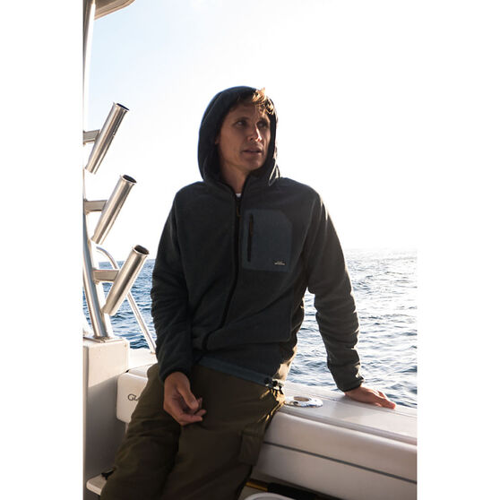 Men's Bigger Boat Zip Hoodie Orion Blue Heather XL Men's, Orion Blue Heather, bcf_hi-res