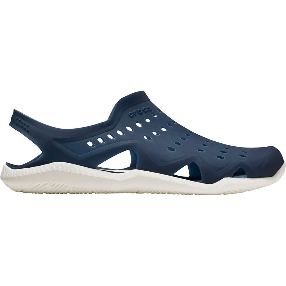 05dd7c5dac90e4 Crocs Men s Swiftwater Wave Navy   White US 8