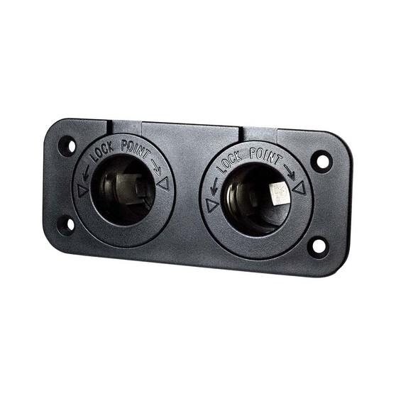 KT Cables 15A 12v Dual Power Socket, , bcf_hi-res