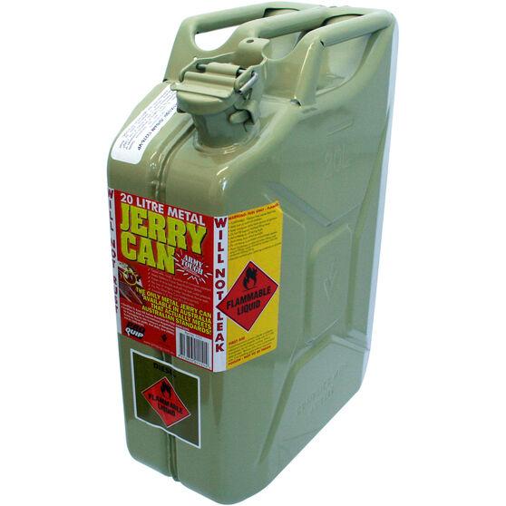 Metal Jerry Can - Diesel, 20 Litre, Green Metal, , bcf_hi-res