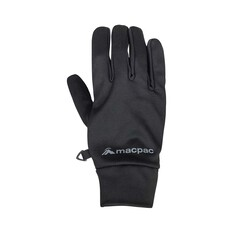 Macpac Unisex Stretch Gloves Black XS, Black, bcf_hi-res