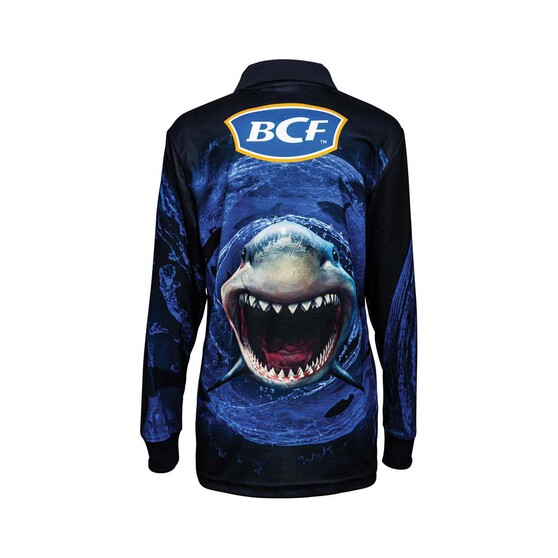 BCF Youth Whirlpool Sublimated Polo, Blue, bcf_hi-res