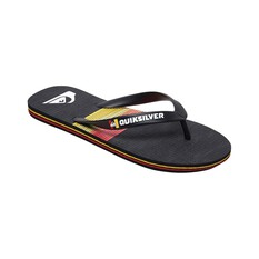 Quiksilver Waterman Men's Molokai Seasons Thongs Black / Red 8, Black / Red, bcf_hi-res